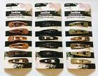 Scunci Hair Matching Snap Clips - You Pick Color Black Brown