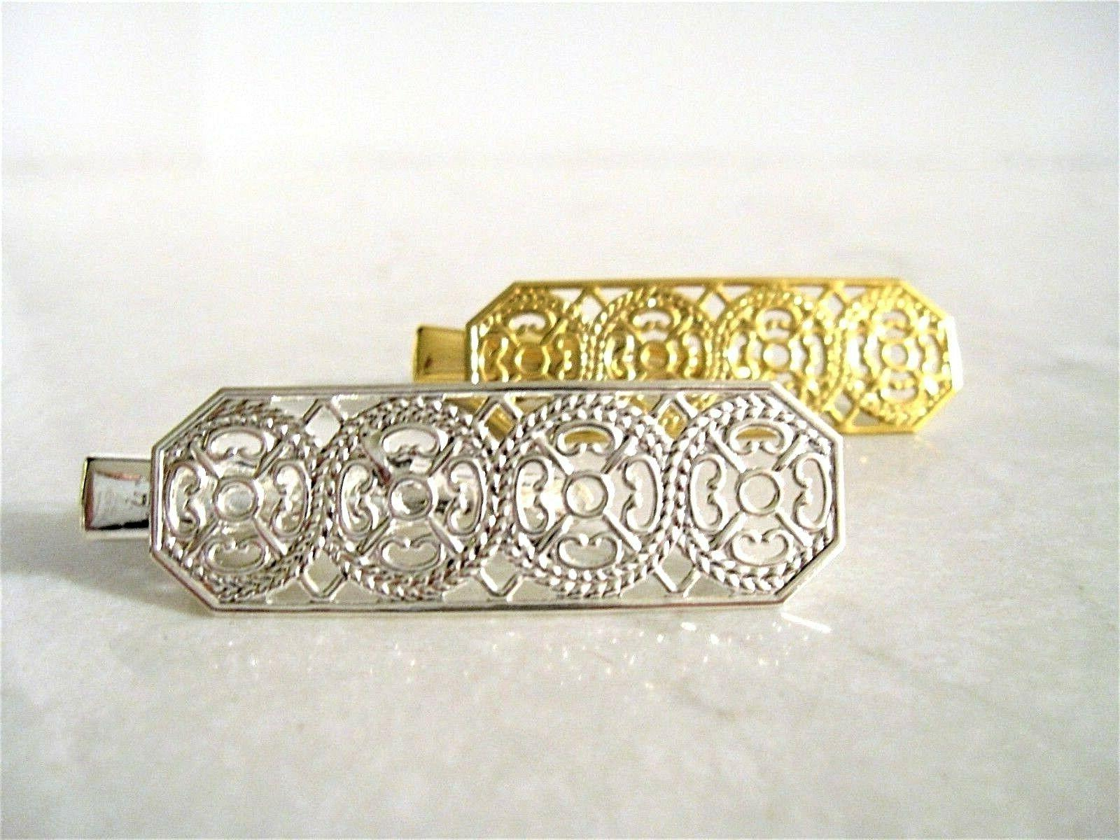 small silver gold alligator hair clip barrette