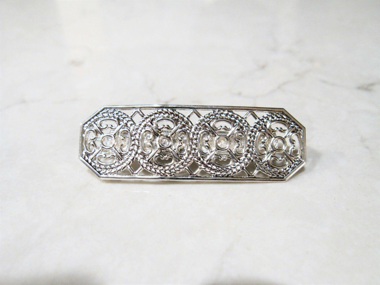 Small silver hair pin clip for fine