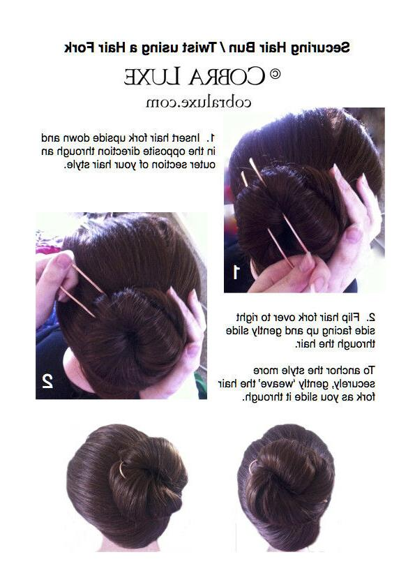 Copper Hair Bun Holder U Hair Pin THICKNESS Hair