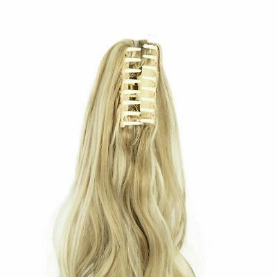 Synthetic Clip Tail Hair Extensions On Ponytail Hair