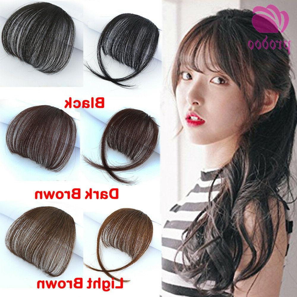 Thin Neat Air Bangs 100% Real Human Hair Clip in Fringe Fron