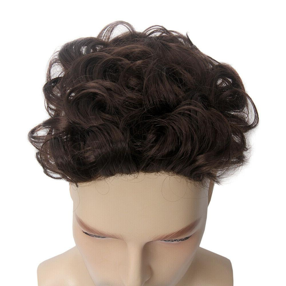 Toupee Hair Replacement System with 6''x5'' Brown