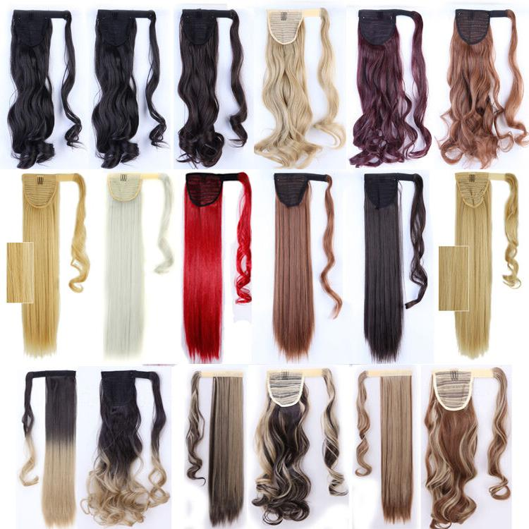 US 100% Real New Clip Hair Extension Pony Wrap Ponytail
