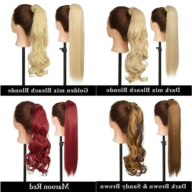 US Clip In Hair Extension Pony Tail Ponytail as