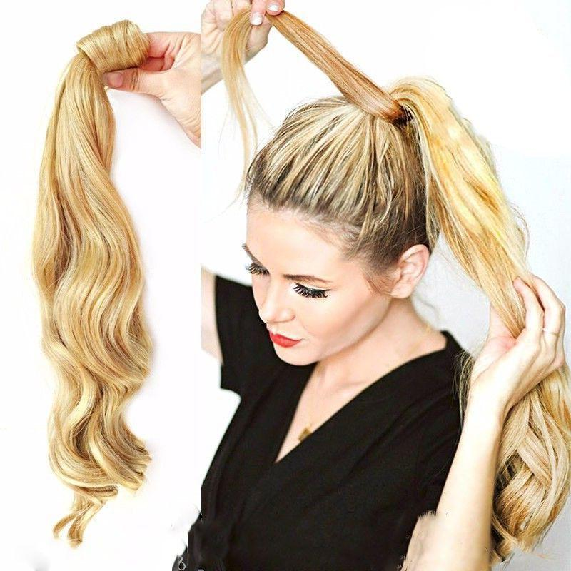US 100% New Clip Pony Wrap Ponytail as humans