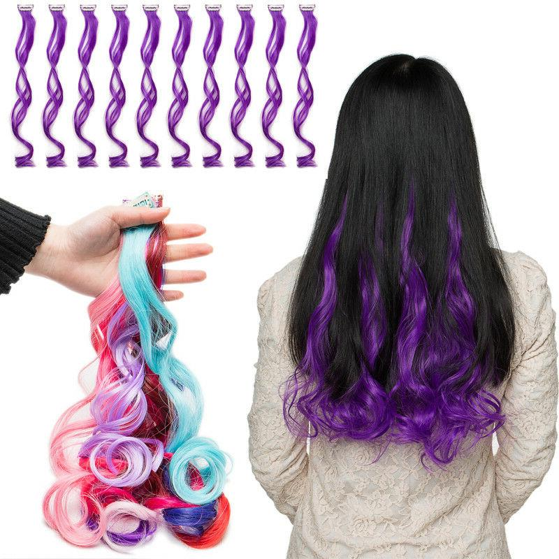 us 22 fake straight curly hair extensions