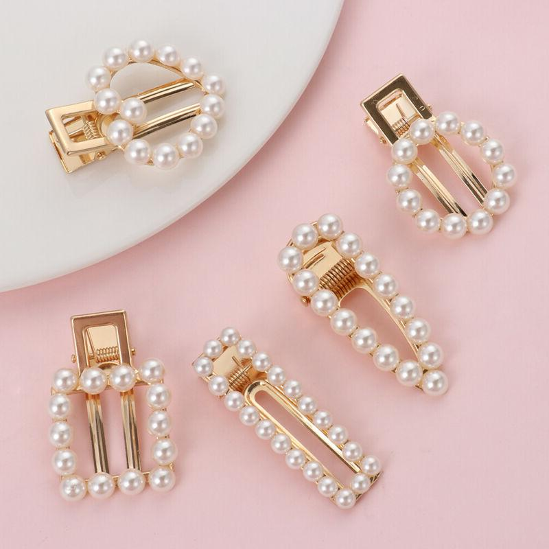 US-Geometric Pearl Hair Elegant Barrette