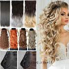 US Real Long 100% Natural Clip In Hair Extensions As Human H