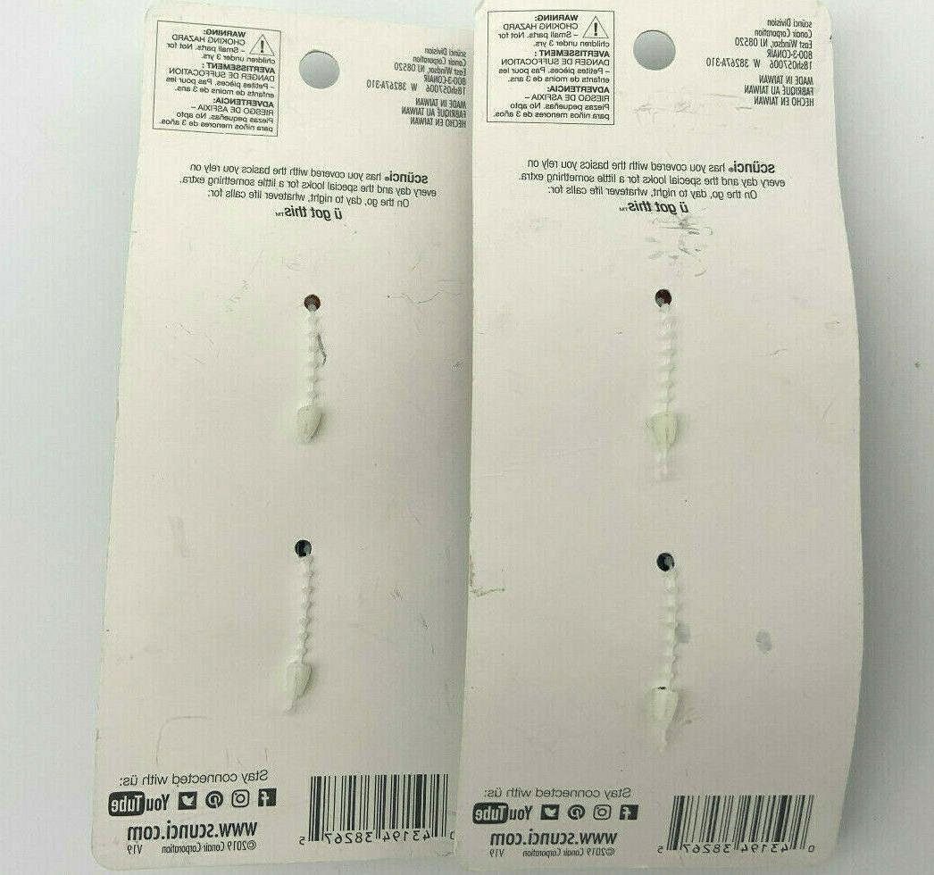 Scunci Clips Brown Twin Pack 38267