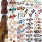 Women Crystal Hair Barrette Hair Clips French Clip Barrette