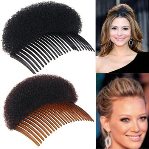 Women Fashion Hair Styling Clip Volume Boost Comb Stick Bun