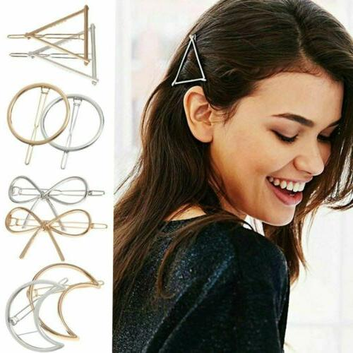 women geometric hair clips barrettes accessories pins