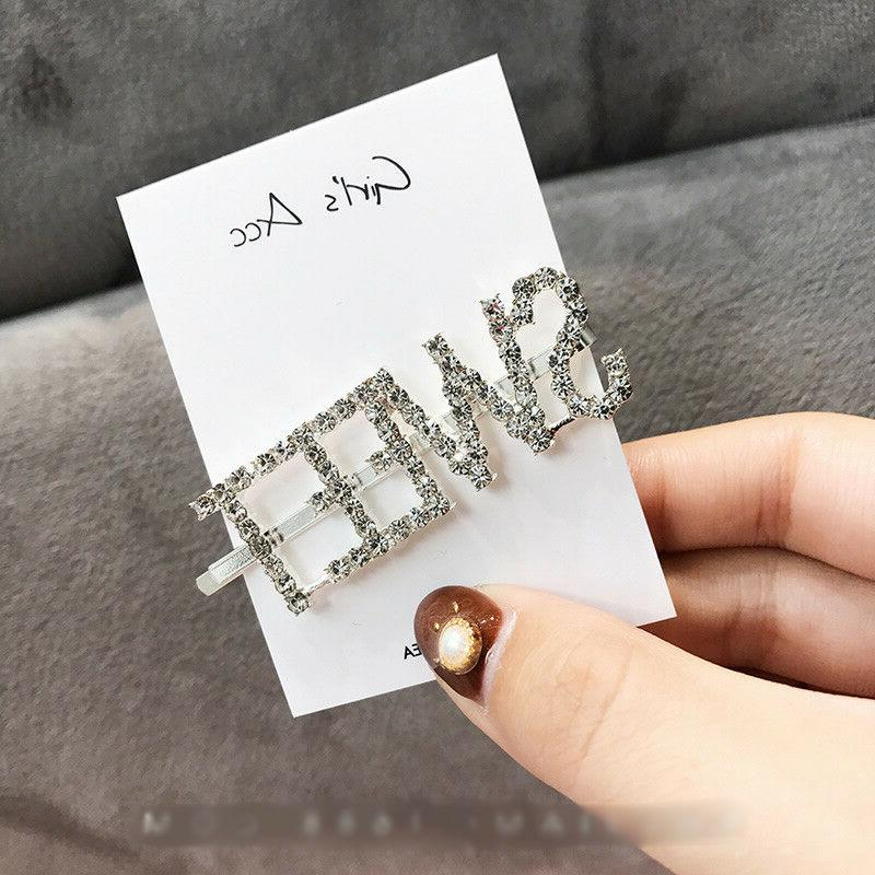 Women Words Hair Clips