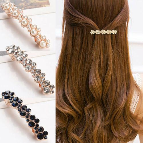 Women Hair French Clips Slides Vintage