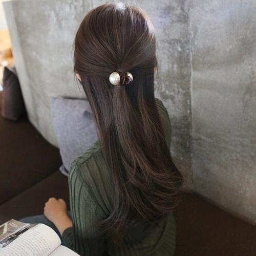 Women Pearl Accessories Fashion Crystal Hair Clips