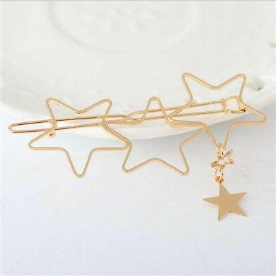 Women Stars Shape Hair Clip Hollow Hair Decor