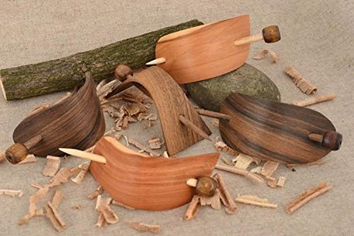wooden hair clips set eco