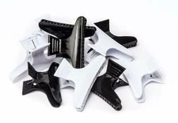Diane Large butterfly clamps, black and white 12 pack D13
