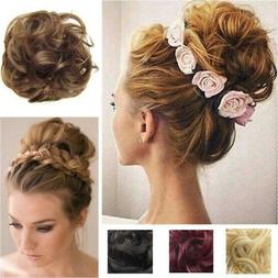 Large Comb Clip In Curly Hair Piece Chignon Updo Hairpiece E
