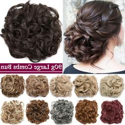 large thick messy bun clip hair scrunchie
