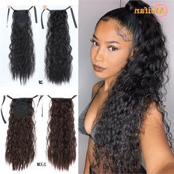 long corn curly ponytail synthetic font b