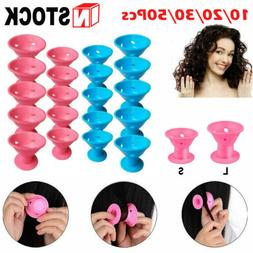Lots Magic Silicone Hair Curlers Rollers No Clip Styling Cur