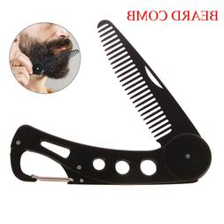 Mens womens beauty handmade folding pocket clip hair moustac