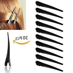"30 Pcs Metal Hair Clips for Styling, 2.36"" Professional Blac"