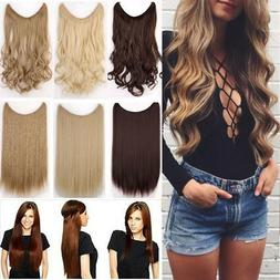 Natural Real Natural Secret Wire Headband Hair Extensions Ex