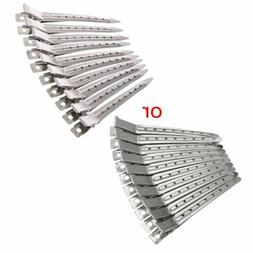 New 10pcs Hair Clips Stainless Steel Hairdressing Duck Bill