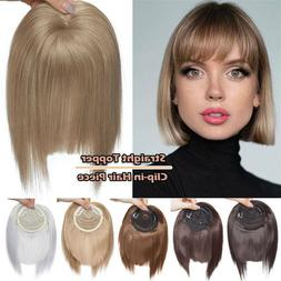 New Arrival Straight bang Clip Topper fringe hair Thick hair