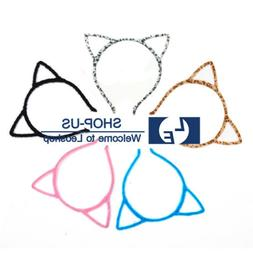 New Cat Ears Hairband Headband Costume Fur Anime Cosplay Hai