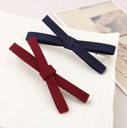 2PCS Korean version's cloth headdress duckbill clip bow hair
