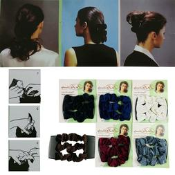 New Magic comb Stretch Velvet Hair Head Comb Double Clips Wo