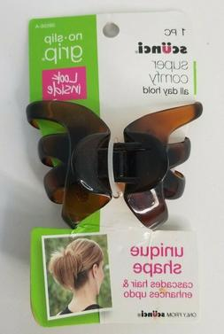 Scunci No-Slip Grip Extra Large Unique Shape Jaw Clip #39556