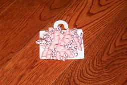 NWT GYMBOREE POLAR PINK CURLY HAIR CLIPS PINK WITH PENGUINS