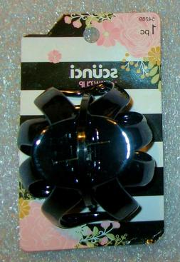 """Scunci Octopus Hair Claw Clip Glossy Shiny Black 2.5"""""""