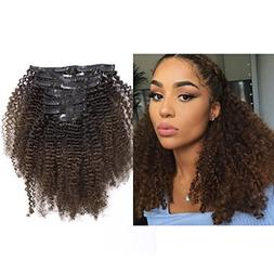 LacerHair Curly Clip in Remy Human Hair Extensions Afro Kink