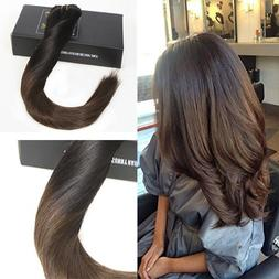 Sunny Ombre Clip in Full Head Human Hair Extensions 24inch 9