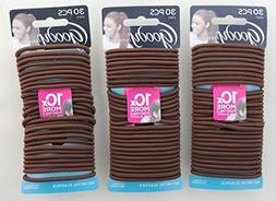 Goody Ouchless Elastics, Chocolate Cake, 30 Count