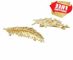 yueton Pack of 2 Star Pred Perry Leaves Alloy Hairpin Hair C