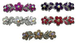 Bella Pair of Hair Barrettes Med/Small Hair Clips French Cla