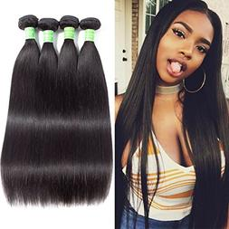 ANNELBEL Peruvian Virgin Hair Straight 4 Bundles 100% Unproc