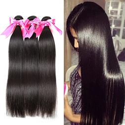 Jaja hair 8A Peruvian Virgin Hair Straight Hair 3 Bundles De