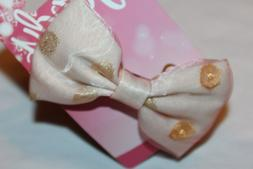 Goody Pink with Polka Dots Bow Barrette Hair Clip # 07863