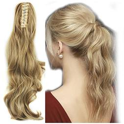 "Haironline Ponytail Extensions 18""21"" One Piece Claw Jaw Pon"