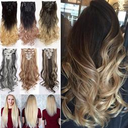 Real Long 100% Natural Extensions Clip in HAIR EXTENTIONS 18