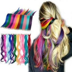 100% Real Natural as human Hair Multi Color Clip In Hair Ext