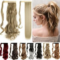 Real New as Human Hair Wrap Around Ponytail Pony Tail Clip O